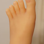 Toe nails with Clear French Manicure